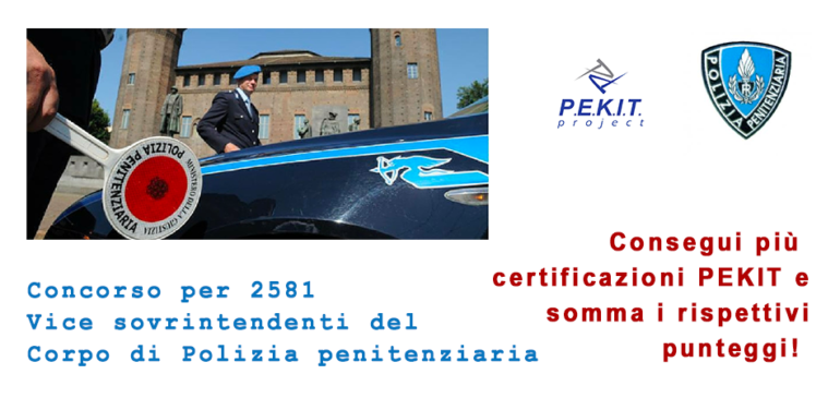 Concorso 2581 Vice sovrintendenti Polizia penitenziaria